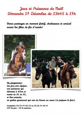 puissance et jeux a cheval